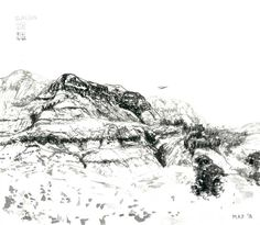 Mountain Landscape Drawing | StateoftheART | StateoftheART Mountain Landscape Drawing, Landscape Drawings, Online Art Gallery, Beautiful Landscapes, African, Ink, India Ink, Landscape Paintings