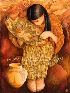 'Of This Earth' ~ painting by Holly Sierra 'You have noticed that everything the Indian does is in a circle and that is because the Power of the World always works in circles and everything tries to be round..... Even the seasons form a great circle in their changing' ~ Black Elk Oglala Sioux Holy Man