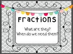 This PowerPoint would be PERFECT for starting a fractions unit- really helps kids see fractions in the world around them! Love that it comes with a whole fraction intro unit! $