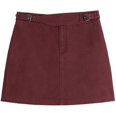 Marc by Marc Jacobs Cotton Mini Skirt (52.895 CLP) ❤ liked on Polyvore featuring skirts, mini skirts, bottoms, saias, red, marc by marc jacobs, mini skirt, red mini skirt, slimming skirts and short red skirt