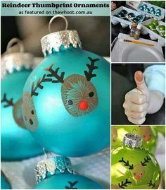 Kerstbal van een vingerafdruk..