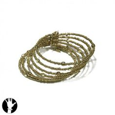 SG Paris Rigid Bracelet 6 Rows Bronze Mar Bronze Bracelet Rigid Bracelet Glass Winter Women Bollywood Fashion Jewelry / Hair Accessories Z Others SG Paris. $5.46