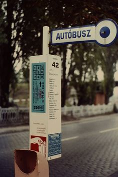Ed Sijmons' photograph of a bus stop in Budapest, Hungary, 1975 (via edsijmons) Old Pictures, Old Photos, Grand Budapest, Transport Companies, Film Strip, Bus Stop, Budapest Hungary, Photo L, Vintage Photography