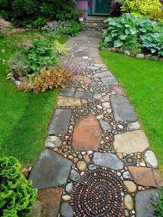 Very interesting garden path