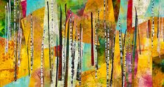 "Sunlit Canyon by Patty Hawkins ____________________ 2012, 53"" x 28 "" Quilt National 2013"