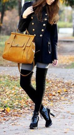 Vintage Double-Breasted Coat - Plus I just like this overall look/outfit