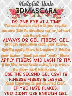 Use this easy guide for applying 3D Fiber Lash Mascara! Buy here:Www.so-younique.co.uk
