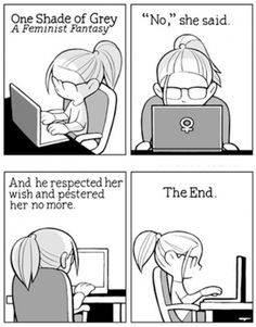 Humor Train - Funny Pictures, Pic Dumps, Animals and GIFs.: One shade of grey - a feminist fantasy Web Foto, Body Positivity, Jm Barrie, Lol, Fifty Shades Of Grey, Book Worms, I Laughed, The Book, Laughter