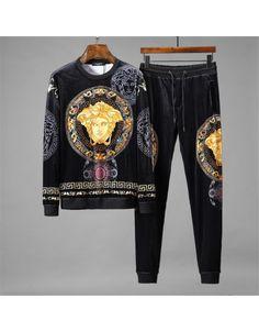 Versace Tracksuits For Men Versace Suits, Versace Fashion, Versace Men, Fashion Shoes, Mens Designer Shirts, Designer Suits For Men, Designer Clothes For Men, Gucci Jacket Mens, Versace Jacket