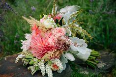 Wedding Story: Tess and Nick's Bigfork, Montana Wedding – Bridal Bouquet – from Piece of Cake Wedding Decor Shed Wedding, Wedding Story, Rustic Wedding, Cake Wedding, Bridal Shower Planning, Wedding Planning, Lily Of The Valley Wedding Bouquet, Wedding Bouquets, Wedding Flowers