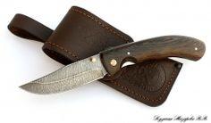 Складной нож Таежник дамаск