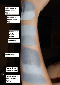 I HATE the guy's url, but he has lined up a whole comparison of all the leading body makeup brands next to each other, and how to mix and get the color you want. it's kinda the best.