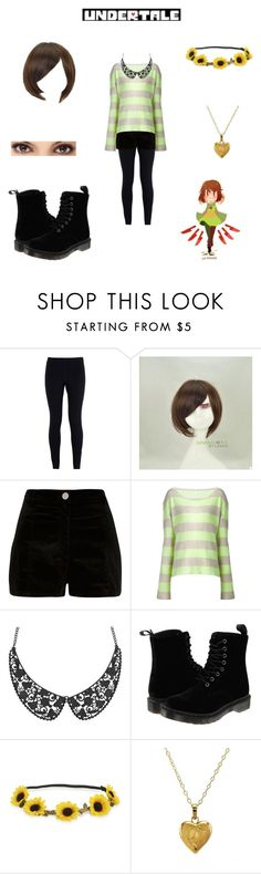 """ Chara from undertale "" by honeyswamp ❤ liked on Polyvore featuring NIKE, Sankins, River Island, The Elder Statesman, Dr. Martens, Aéropostale and Lord & Taylor"