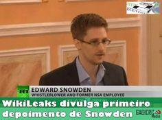 WikiLeaks divulga primeiro depoimento de Snowden  O portal WikiLeaks publicou esta madrugada o primeiro vídeo do ex-analista da Agência Nacional de Segurança, Edward Snowden, que se encontra refugiado na Rússia apór ter revelado o programa de vigilância PRISM dos Estados Unidos.