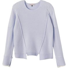 Rebecca Taylor Merino Pullover Sweater (440 BRL) ❤ liked on Polyvore featuring tops, sweaters, jumpers, silver lake, crewneck sweater, merino wool crewneck sweater, crew-neck sweaters, textured sweater and merino sweater