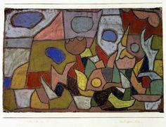 Paul Klee 'Herbst-Garten-Bild' 1932 Pastel 47.8 x 31.5 cm