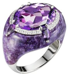 Bogh-Art...Amethyst and Diamond Ring <3