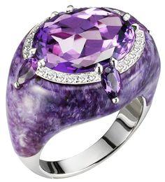 Bogh-Art...Amethyst and Diamond Ring <3