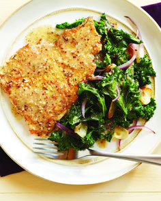 Looks great: Clean Eating's Turkey Scallopine with Lemon Dijon kale. I will be making this for me and my clients, rest assured!