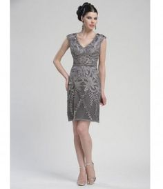 mother of the groom dresses charcoal grey