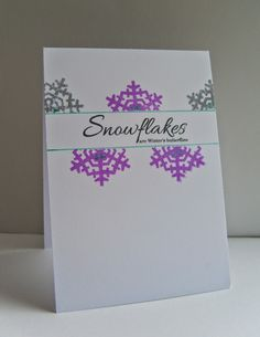 Snowflakes in July! Cardmaking And Papercraft, Clear Stamps, Cas, I Card, Snowflakes, Studios, Card Making, Paper Crafts, London