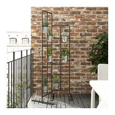 IKEA - SOCKER, Plant stand, A plant stand makes it possible to decorate with plants everywhere in the home.The plant stand can be used to display plants indoors or outdoors on a balcony or as a unique room divider. Outdoor Plants, Outdoor Spaces, Outdoor Gardens, Outdoor Living, Indoor Outdoor, Indoor Herbs, Plants Indoor, Indoor Gardening, Air Plants
