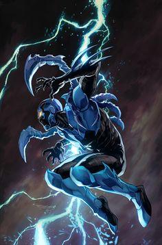 Comic Book Art - league-of-extraordinarycomics: Blue Beetle by. Batwoman, Nightwing, Comic Book Characters, Comic Character, Comic Books Art, Book Art, Comic Art, Dc Comics Superheroes, Arte Dc Comics