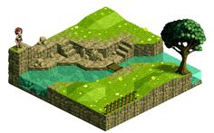 Another isometric landscape no.3 by Fidorka69.deviantart.com on @deviantART