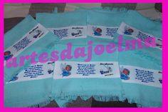 15 caixinhas MDF com mini terço  15 bolinhos de toalhinha  20 ímãs de geladeira R$ 200,00