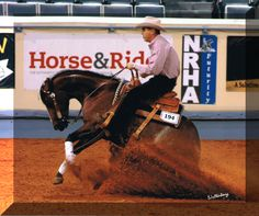 "I have done this on a Quarter Horse.  It is called ""Reining"" and these superior athletic horses are amazing to ride.  The most fun you will EVER have on the back of a horse.  Miss riding almost every day..."