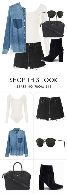 """""""Untitled #20904"""" by florencia95 ❤ liked on Polyvore featuring WearAll, RE/DONE, Ray-Ban, Givenchy and Nly Shoes"""