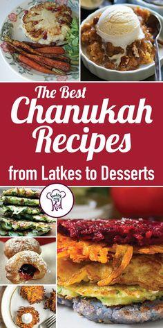 The Best Chanukah Recipes from Latkes to Desserts – Hanukkah Hanukkah Food, Hannukah, Healthy Chanukah Recipes, Hanukkah Celebration, Hanukkah Crafts, Jewish Crafts, Passover Recipes, Happy Hanukkah, Kitchen