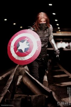 Alas I post here the wonderfull pictures that took of my Winter Soldier cosplay. I really love this photoshoot! Winter Soldier Cosplay, Rule 63, Marvel Cosplay, Bucky Barnes, Cosplay Costumes, Cosplay Ideas, Comic Books, Photoshoot, Superhero