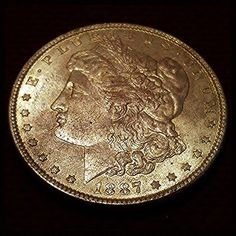 1887 Morgan Dollar 0.9 Fineness Silver Coin Extremely Fine United States of America http://www.rubylane.com/item/918511-GN287/1887-Morgan-Dollar-0-9