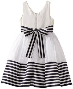 ff7b4ea19bc New Girls Bonnie Jean 8 White Navy Stripe Dress Clothes Sailor Special  Occasion