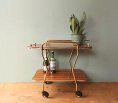 Servierwagen * Bar - Wagen * 50er von mill vintage auf DaWanda.com