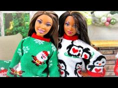 ▶ How to Make a Doll Christmas Sweater - YouTube