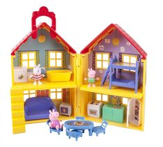 Peppa-Pig-039-s-Deluxe-House-Peppa-Suzy-George-PLAYHOUSE-18pc-4-Rooms-Kids-Toy-NEW