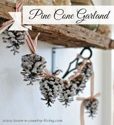 Pine Cone Christmas Trees - Town & Country Living