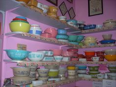 Pretty Pyrex is always a beautiful display when all together.