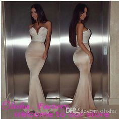 Elegant Sweetheart Neck Backless Long Prom Dresses 2016 with Appliques Tight Sleeveless Dresses Party Evening Wear Mermaid Online with $94.98/Piece on Olisha's Store | DHgate.com