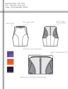 An activewear collection geared towards running. Sketch Web Design, Flat Web Design, Flat Drawings, Flat Sketches, Croquis Fashion, Fashion Sketches, Technical Illustration, Technical Drawings, Fashion Portfolio