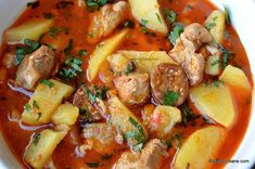 Pork Recipes, Cooking Recipes, Romanian Food, Thai Red Curry, Carne, Potato Salad, Yummy Food, Homemade, Meat