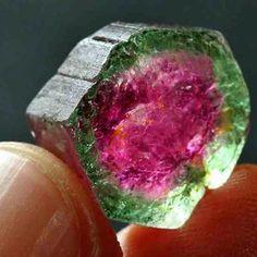 Watermelon Tourmaline | #Geology #GeologyPage #Mineral  Geology Page www.geologypage.com