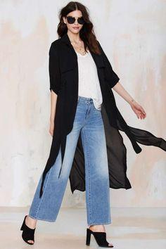 Strange Kind of Woman Sheer Trench Coat - Jackets + Coats