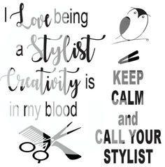 I love being a stylist creativity is in my blood SVG DXF PDF JPG JPEG VECTOR Graphic Design Digital Cutting File Instant Download Cameo Silhouette Cricut
