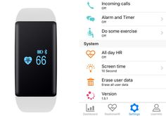 DFit Smart Sports Bracelet - IP66, Bluetooth 4.0, Sports Tracking, Sleep Monitor, Apps for iOS + Android (White)
