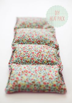 DIY Heat / Ice Packs  Put in microwave for a couple of minutes or leave in the freezer for an ice pack.
