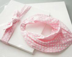 original o reversible beb nio bandana babero y diadema