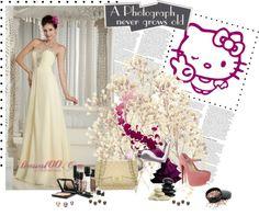 """Designer Light Yellow 2013 Prom Dress Empire Sweetheart Chiffon Beading Brush Train"" by prettydressesforyou ❤ liked on Polyvore"